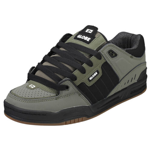 nero Nubuck 7 Olive scarpe Fusion sintetiche da Uomo Globe e Uk ginnastica x1ASptq