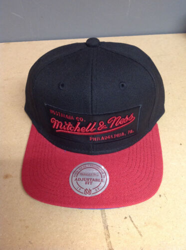 Black Red Script Banner Snapback Sent Sameday* Mitchell and Ness
