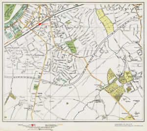 image is loading surbiton tolworth area map london 1932 119 120