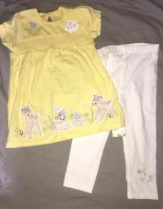 Vêtements Filles (0-24 Mois) Vêtements, Accessoires Obedient Ensemble Coton Disney Bambi Panpan Neuf Etiqueté Disney Taille 12-18 Mois Exquisite Traditional Embroidery Art
