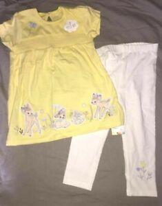 Obedient Ensemble Coton Disney Bambi Panpan Neuf Etiqueté Disney Taille 12-18 Mois Exquisite Traditional Embroidery Art Vêtements Filles (0-24 Mois) Bébé, Puériculture
