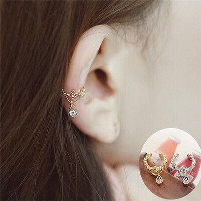 1 PC Rhinestone Elegant Ear Cuff Wrap  Non Piercing Cartilage Clip On Earring