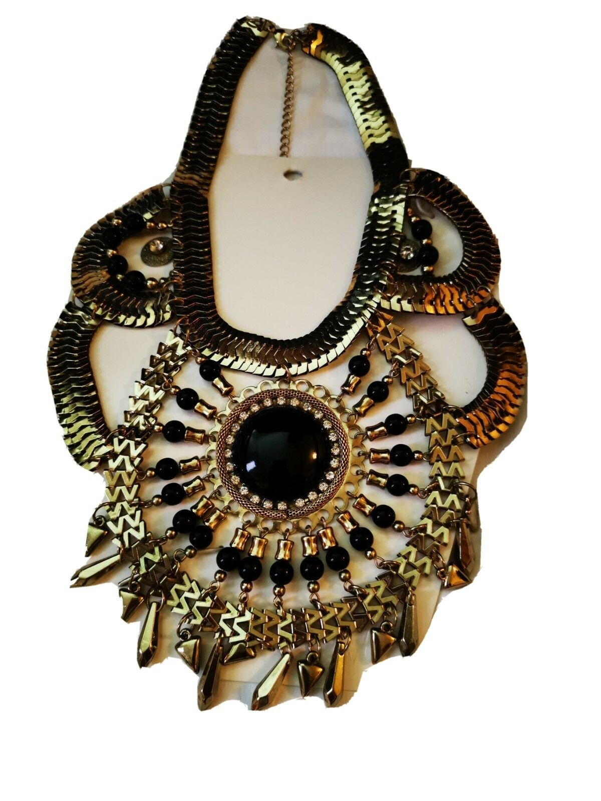 H&m necklace BNWT accessories Golden Color Black Fancy Party