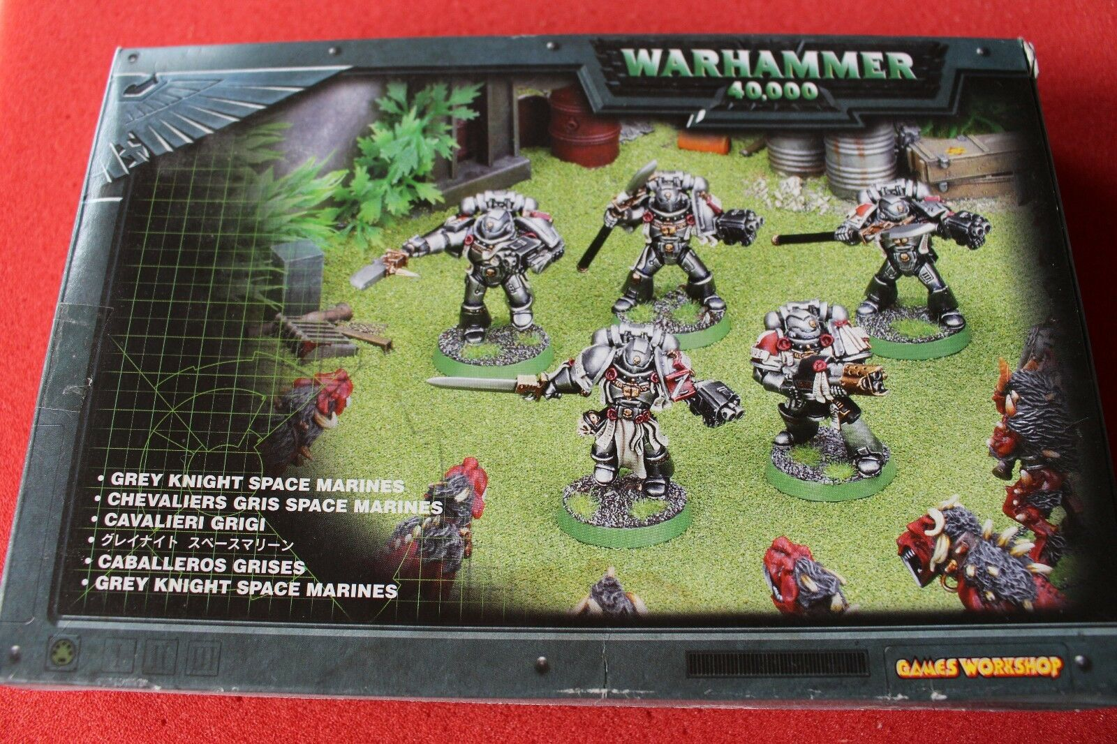 Games Workshop Warhammer 40k Grey Knights Squad Metal Figures New Boxed Justicar
