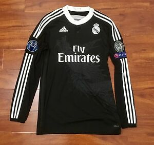 huge selection of 8f0e3 cca66 Details about Ronaldo, 2014 Real Madrid Third LS CL Adizero Match Issue  Shirt Size 8 Adidas Y3