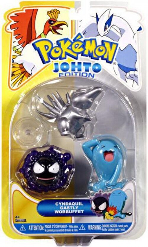 Johto Edition Series 17 Silber Cyndaquil, Gastly & Wobbuffet Figure 3-Pack