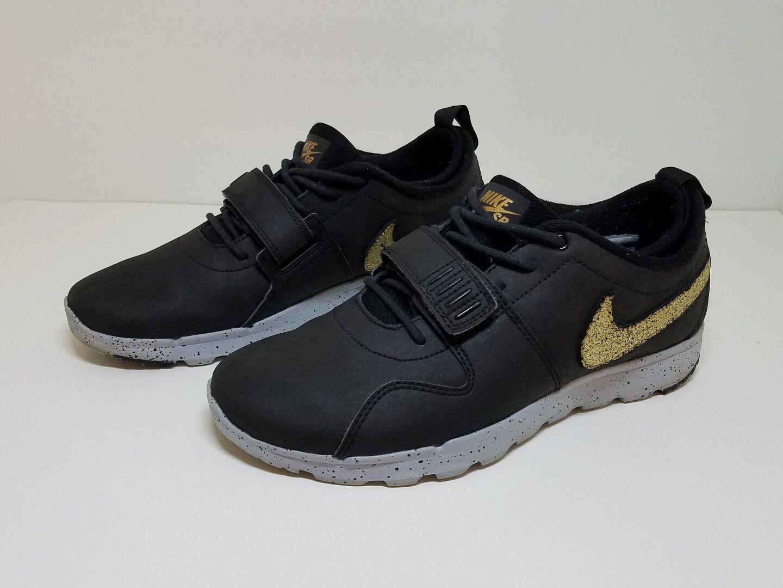 Nike SB Trainerendor L QS SIZE 8.5 [823059-070] Black/Gold