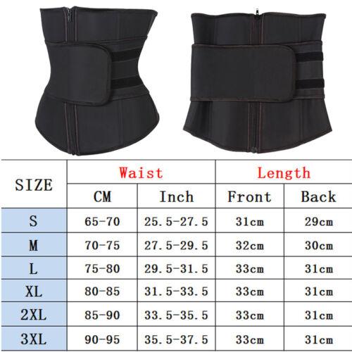 Waist Trainer Cincher Control Shaper Corset Shapewear Body Tummy Sport Zip Belt