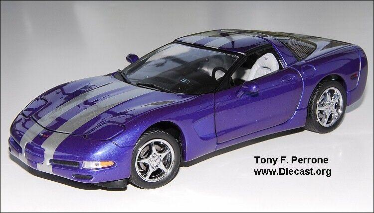 1 24 FRANKLIN Comme neuf Violet 2000 CORVETTE Platinum  Power limited edition of 500  vente de sortie