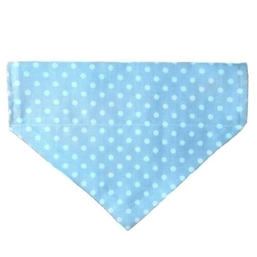 Personalised Dog Bandana over collar name all sizes puppy neckerchief 4 colours