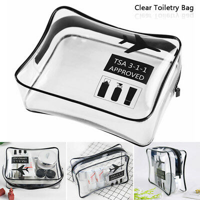 4 x HOLIDAY AIR TRAVEL TOILETRIES BAGS Clear Plastic Airline Airport Bags