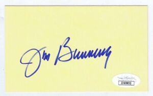 Jim-Bunning-Signed-3x5-Index-Card-JSA-COA-Phillies-Tigers