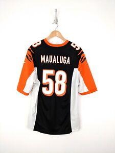 Details about Nike Rey Maualuga Jersey Men Large Black Orange Bengals Cincinnati NFL Football
