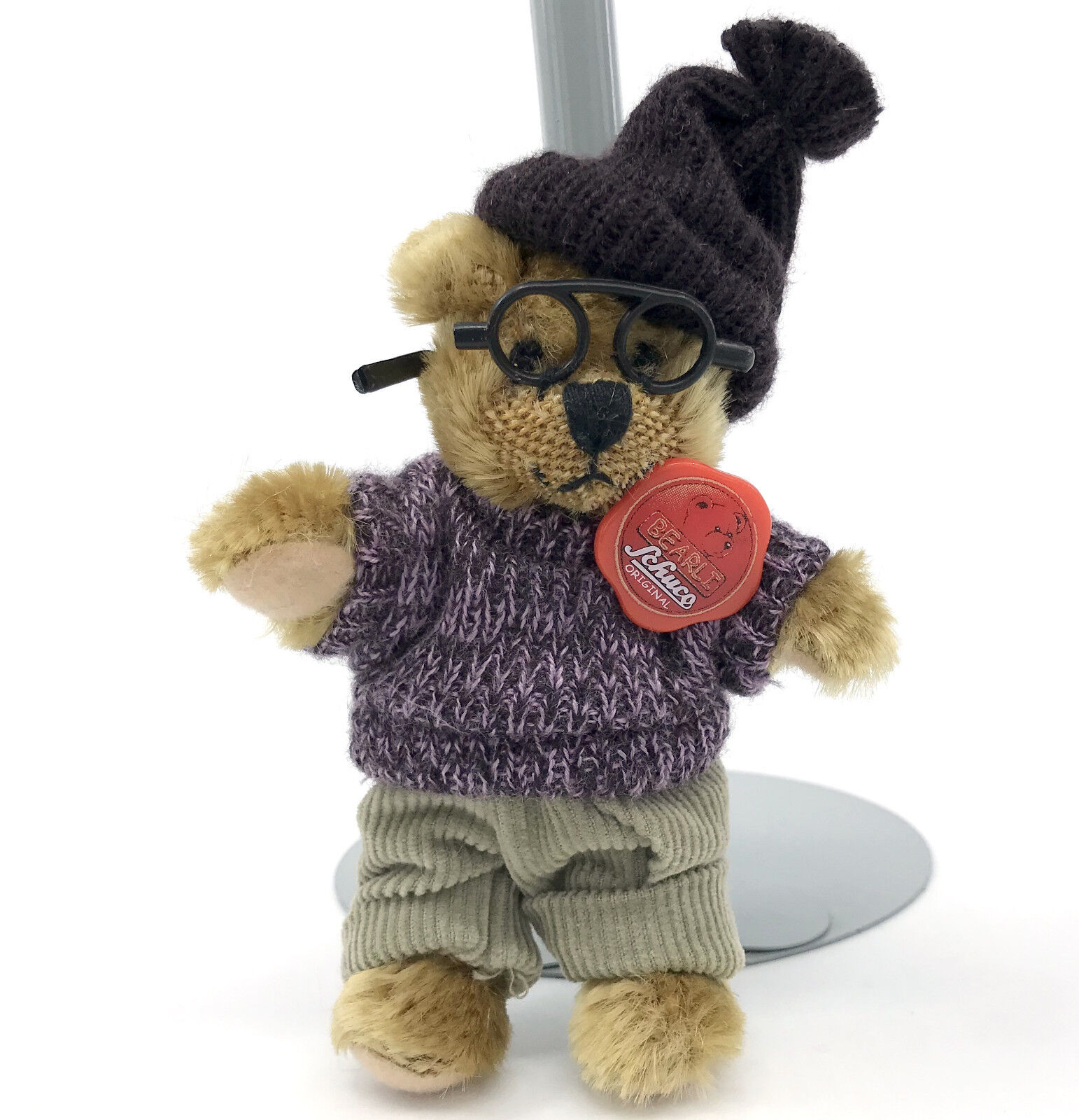 Schuco Plush Bearli Opa Grandpa II Miniature 12cm 5in Teddy Bear ID 2003 Sweater