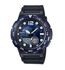 Casio Watch * AEQ100W-2AV Telememo 3D Blue Dial Anadigi Black Resin COD PayPal