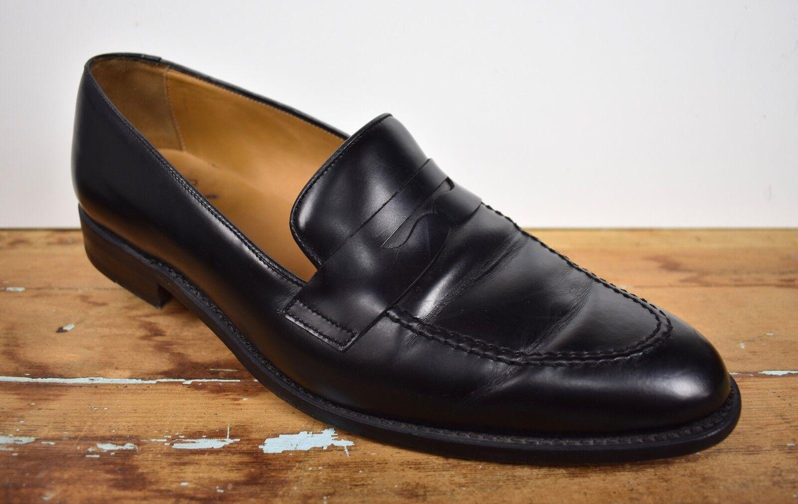 Quero shoes Black Moc Toe Penny Loafer Men's Size  11D