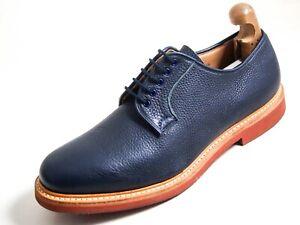 Church's Derby Richelieus Bleu Cuir Hommes Chaussure Pointure Eu 44 US 11
