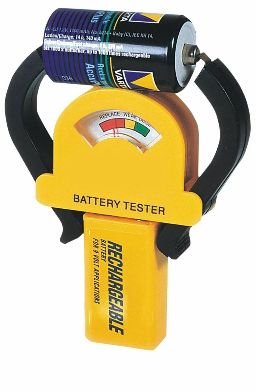 MW 226 Compact Battery Tester for Alkaline/Rechargeable Batteries AAA/AA/C/D/9V