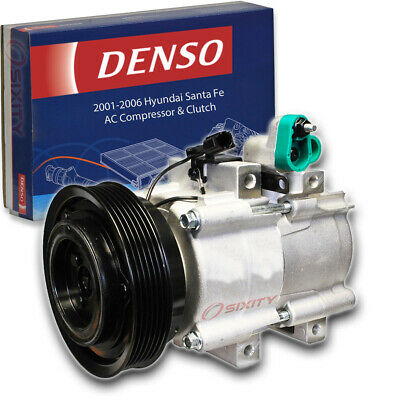 AC Compressor Aftermarket Fits Hyundai Sante Fe 2.7L Engines