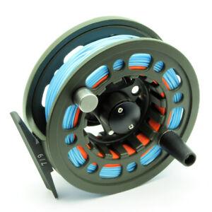 SD Fly Reel Combo + Linea & Supporto | Adatto per pesca alla trota 3/5, 5/7, 7/9