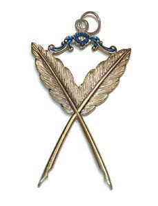 Masonic Gold Collar Jewel Secretary