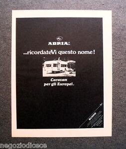P058 - Advertising Pubblicità -1971- CARAVAN ADRIA , RICORDATEVI QUESTO NOME
