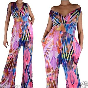 Summer-Jumpsuit-Pantsuit-Trousers-34-36-38-40-42-Baggy-XS-S-M-L-Suit