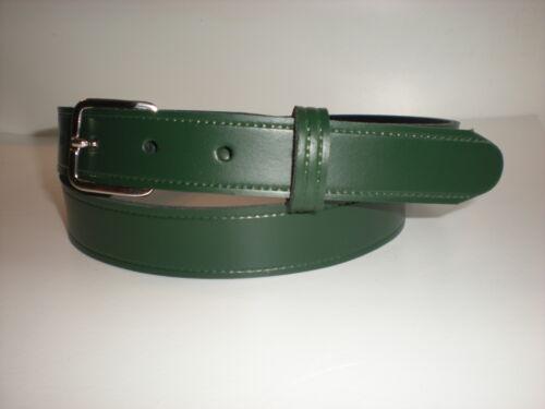Children/'s cuir véritable ceinture en vert