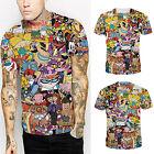 Fashion Women Men Summer Cartoon 3D Print T-Shirt Short Sleeve Tops Blouse