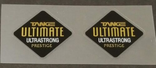 1 Pair sku Tang871 Tange Ultimate Prestige Fork Tubing Decals Mirror Gold