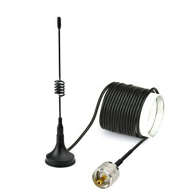 VHF UHF 136//433MHz CB Ham Two Way Mobile Radio PL-259 Male Magnetic Base Antenna