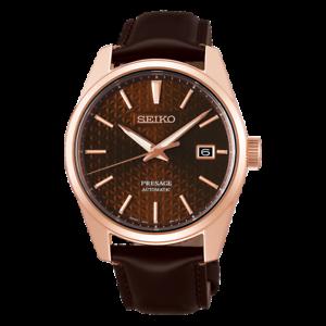 Seiko-JAPAN-Made-Presage-Sharp-Edged-Series-Susutake-Brown-Men-039-s-Watch