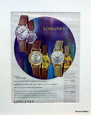 Original Vintage Advert mounted ready to frame mens watch Longines 1961