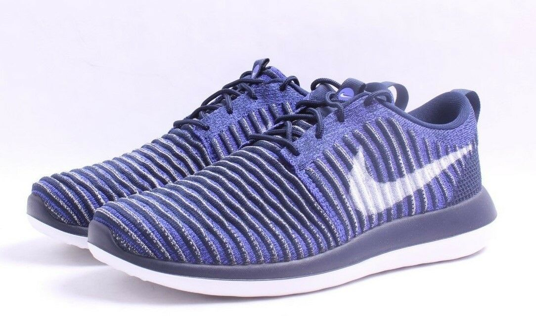 Nike Roshe Two Flyknit College Navy Men SZ 8 - 13 50% OFF