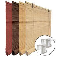 Bambusrollos Klemm Bambus Rollo Holzrollo Bambusjalousie Bambusvorhang Rollo