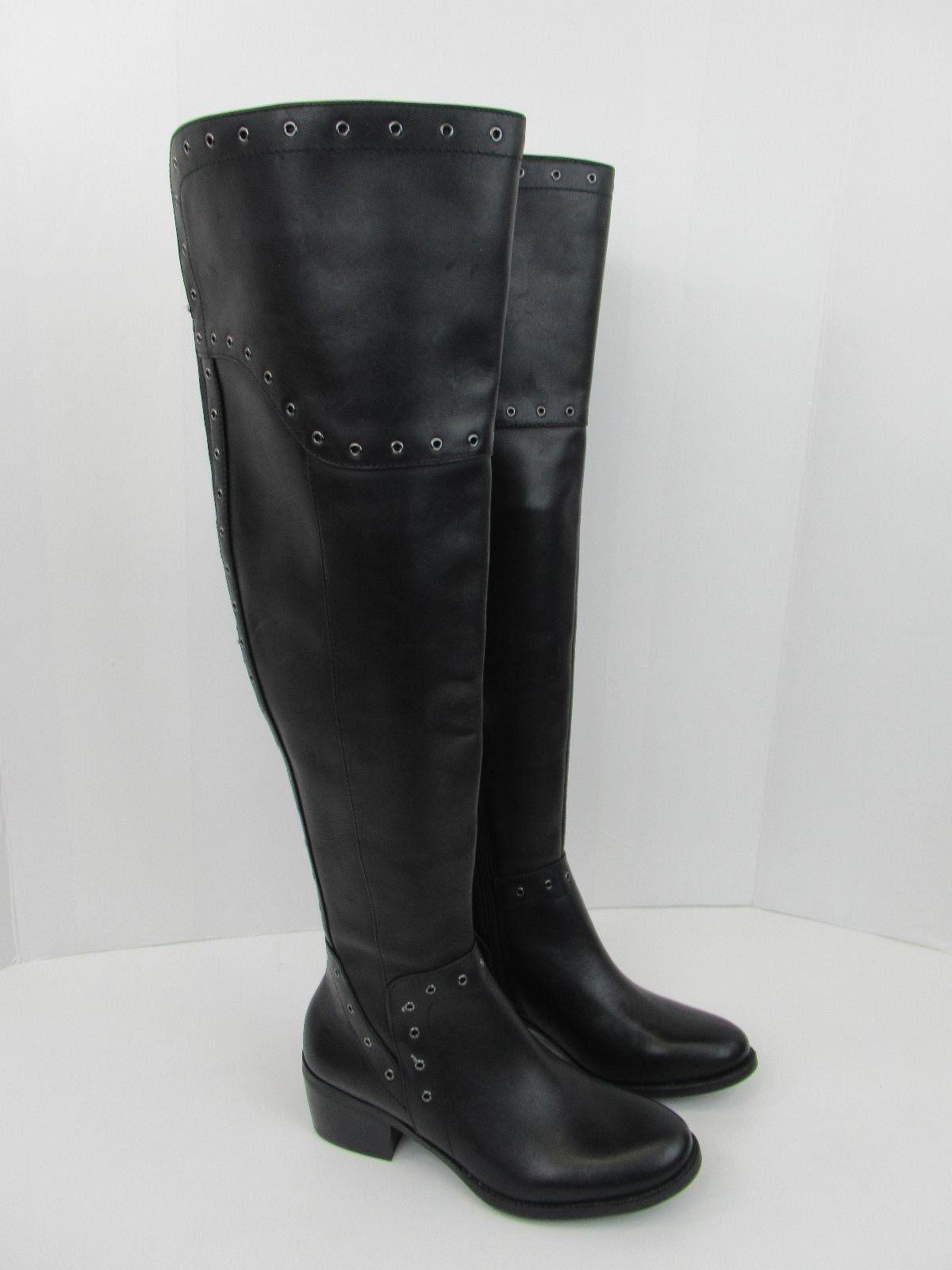 Vince Camuto Wouomo Bestan Leather Side-Zip Wide-Calf stivali nero Dimensione 6 M