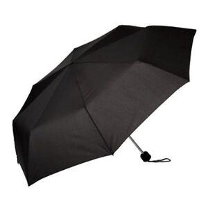Susino Unisex Black Compact Umbrella