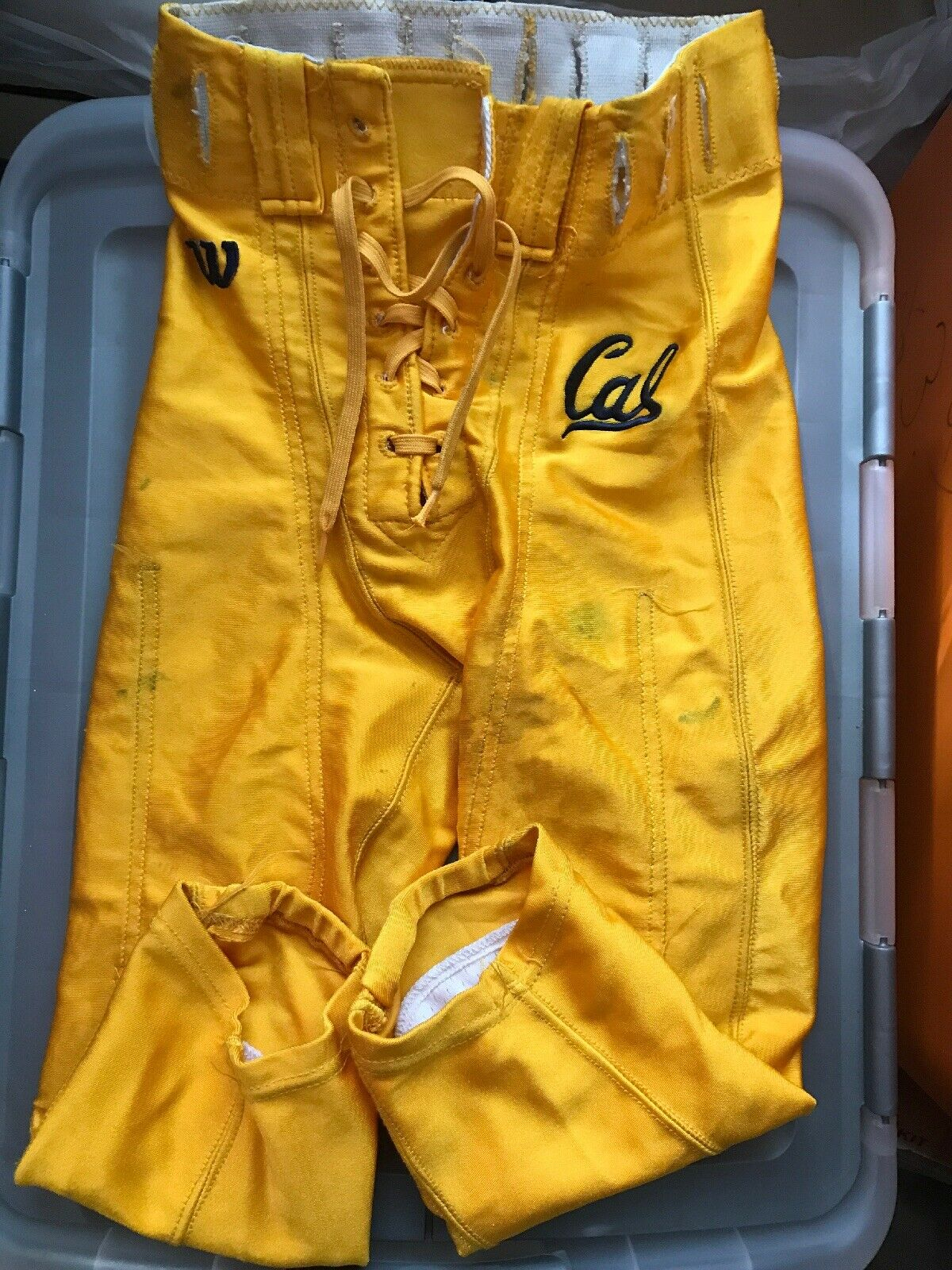 Vintage Wilson Football Pants UC Berkeley Cal Bears Sz26 Player Number 80
