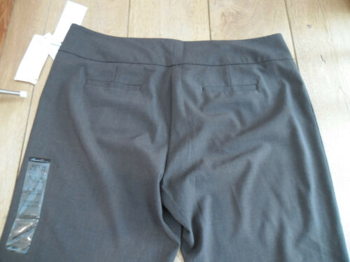 KENNETH COLE AMANDA SMART TAILORED SUIT WORK TROUSERS FORMAL BLACK BROWN GREY