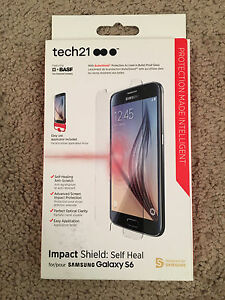 finest selection 7db35 1a870 Details about Tech21 Impact Shield Self Heal Screen Protector Samsung  Galaxy S6 NEW