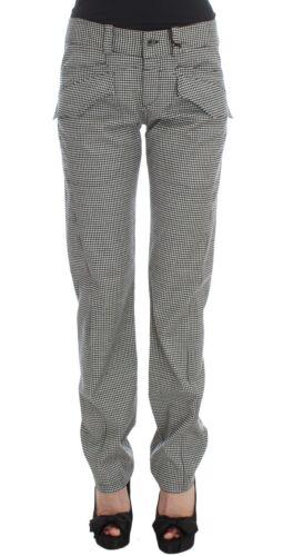 A Scacchi Casuale Pantaloni Cotone It42 Bianco Scervino us8 Nuovo Ermanno m Nero qSHnwXx