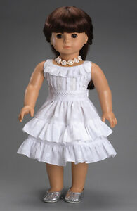 Doll-Clothes-18-034-Dress-Fleur-Blanc-by-Carpatina-Made-For-American-Girl-Dolls