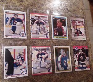 8-Bob-Essensa-Complete-1990-91-Upper-Score-Topps-Bowman-Rookie-card-lot-RC