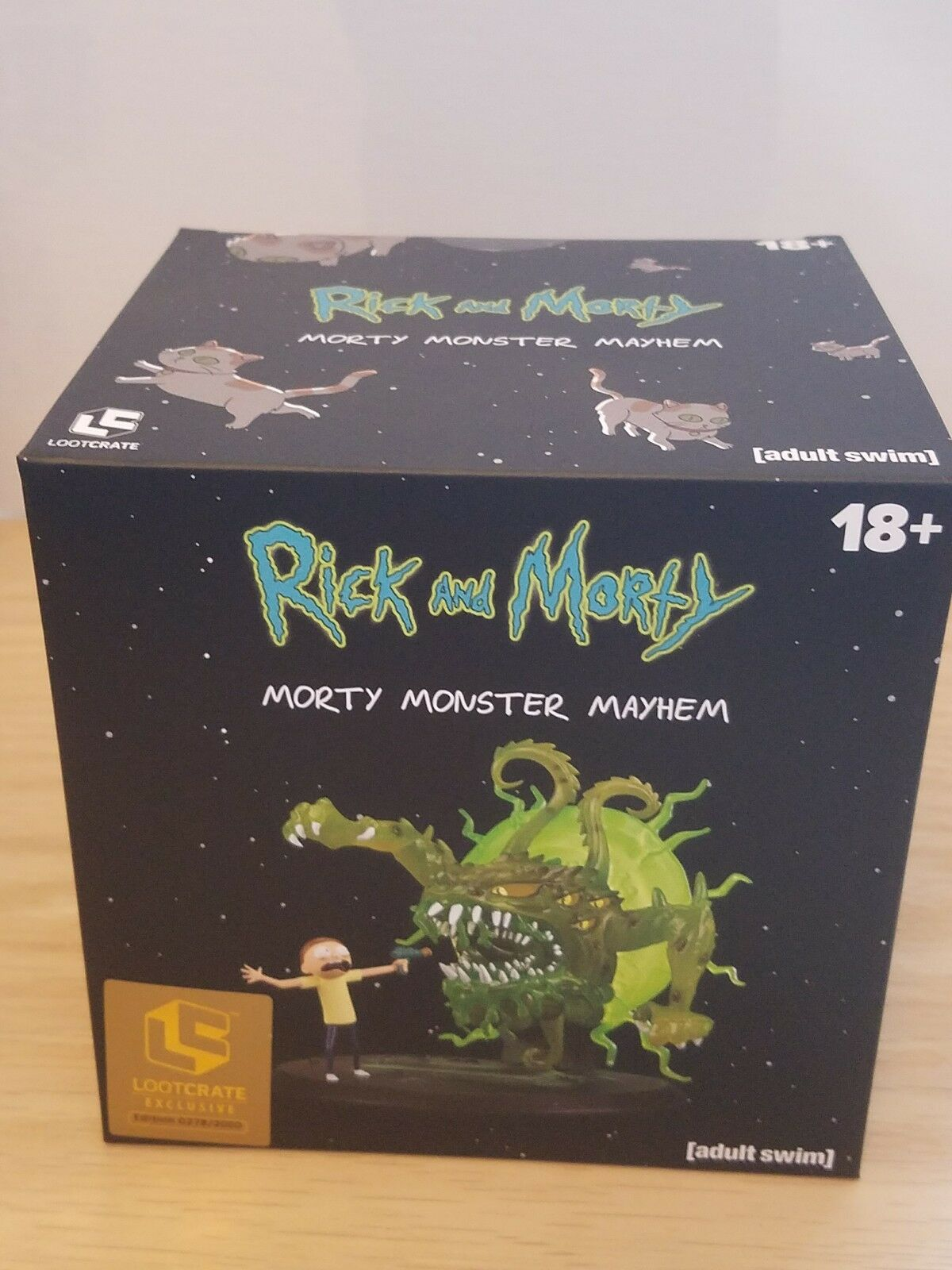 SDCC 2018 Loot Crate Rick and Morty Total Mayhem Figure Exclusive LE 2000 made.