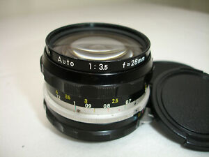 NIKON-NIKKOR-H-28mm-F-3-5-Lens-for-SLR-Non-AI-SN754370
