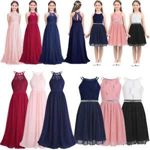 4affa3ecc1335 Image is loading Wedding-Flower-Girl-Dress-Kids-Bridesmaid-Party-Pageant-