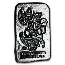 5 oz Silver Bar - Monarch Viking Warrior (Battle Axe) - SKU #103122