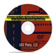 Mallory's Tube Radio Encyclopedia, 1st, 4th, 6th, Radio Repair Parts DVD CD E31