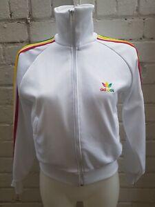 Pista-De-Adidas-Originals-Jamaica-Rasta-Reggae-Top-Talla-S-Chaqueta-para-hombre-Blanco