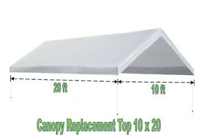 Carport Replacement Canopy Top Cover for Tent 10 x 20 ft ...
